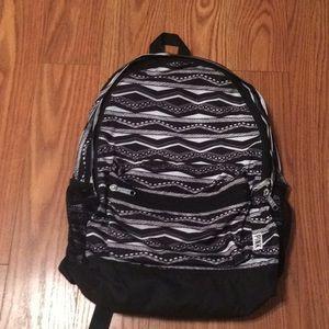 PINK Black & White Print Full Size backpack